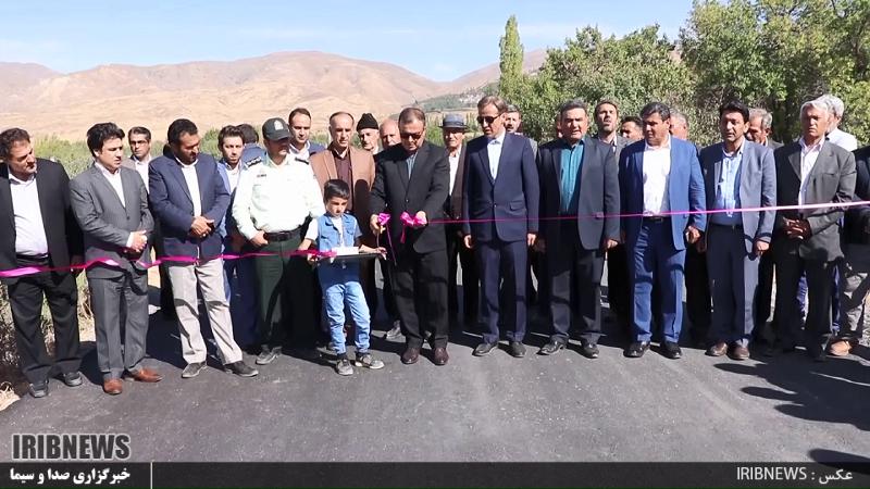 افتتاح راه روستایی در میانه