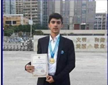 موفقیت دانش آموز بنابی در اردوی کمربند و جاده چین